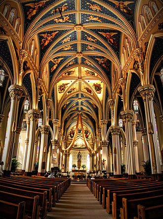 University of Notre Dame - The Basilica of the Sacred Heart, completed in 1888
