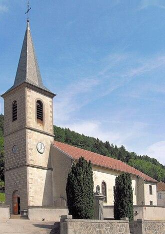 Basse-sur-le-Rupt - Image: Basse sur le Rupt, Eglise Saint Nicolas 1