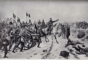 Battle of Le Mans - General Chanzy at the battle of Mans by Maurice Orange