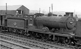 NBR K Class - In September 1962, a year after being withdrawn, number 62484 Glen Lyon waits to be scrapped.