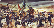 Mural of The Battle of Tulifinny by David Humphreys Miller located at the Daniel Library, The Citadel, Charleston, SC