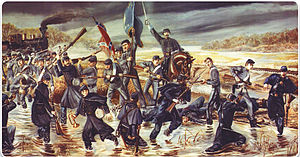Battle of Tulifinny - Mural of The Battle of Tulifinny by David Humphreys Miller located at the Daniel Library, The Citadel, Charleston, SC