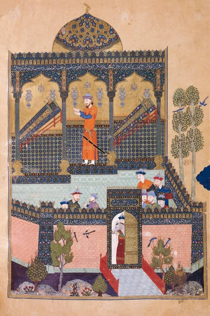 Baysonghori Shahnameh 3 Faramarz son of Rostam mourns the death of his father and of his uncle Zavareh