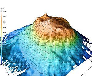 Bear Seamount - Bathymetric image of Bear Seamount