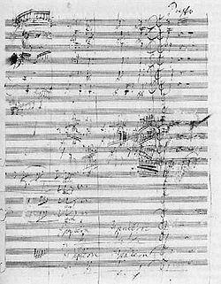 Resultado de imagen para manuscrito de beethoven