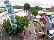 Beggs avenue ballarat showgrounds from ferris wheel during ballarat show