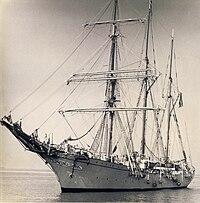 Belgian barquentine Mercator. Trinidad, c. 1960.jpg
