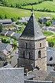 Bell tower of the Saint Sauveur Church in Severac 02.jpg