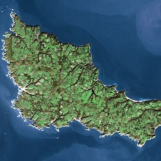 Belle Île - Belle Ile seen by Spot satellite