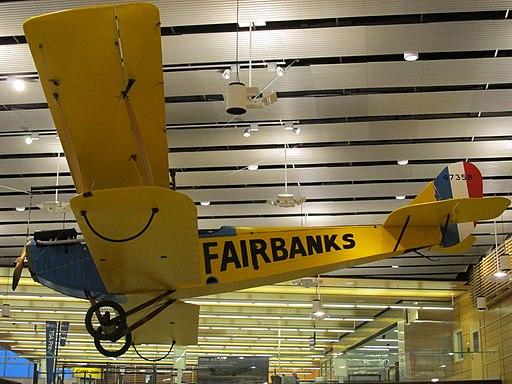Ben Eielson Jenny replica, Fairbanks International Airport main terminal