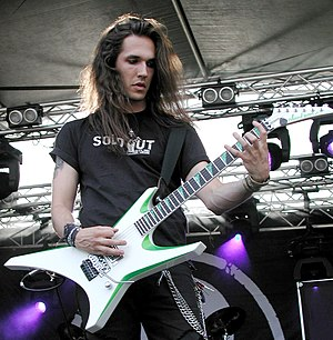 Jackson Guitars - Ben Varon playing a Jackson Warrior, 2009.