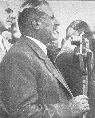 Domingo Mercante - Mercante giving a speech in Capilla del Señor in 1950.