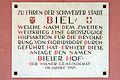 Bieler-Hof Wien 21.,Gedenktafel-Stadt Biel.JPG