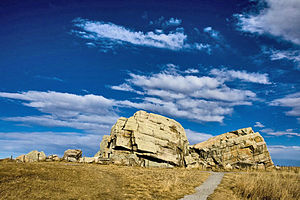 Glacial erratic - Big Rock in Okotoks, Alberta