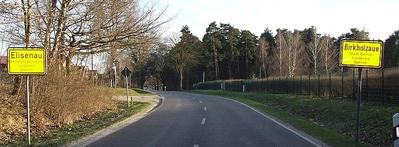 Birkholzaue Ortseingang