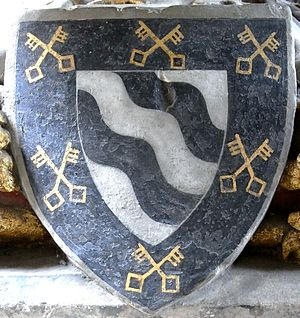 Walter de Stapledon - Image: Bishop Walter Stapledon Arms Exeter Cathedral