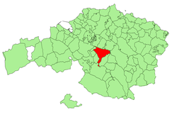 Location of Galdakao in Biscay