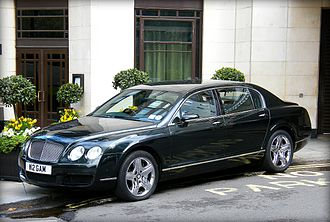 The Dorchester - A black Bentley Continental Flying Spur belonging to the Dorchester.