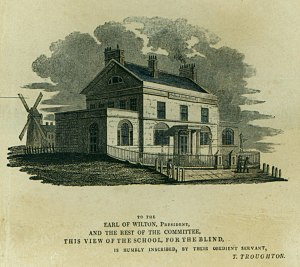 Royal School for the Blind, Liverpool - The new Blind School drawn in 1805