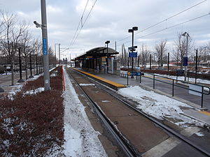 Bloomington Central (Metro Transit station) - Bloomington Central station in 2015