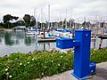 Blue Water Fountain at Santa Cruz Harbor (6868331875).jpg