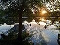 Boat at sunset in Vertou (Sèvre nantaise) 1.jpg