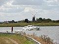 Boat passing navigation channel marker - geograph.org.uk - 1484328.jpg