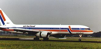Air Holland - An Air Holland Boeing 757 at Schiphol in 1999.