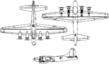 Boeing PB-1W Fortress 3 view drawings.PNG