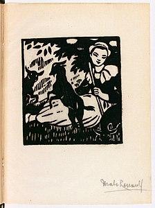 Drzeworyt, chor.  Malo-Renault, Pieśń LoÎca, Auguste Brizeux.jpg