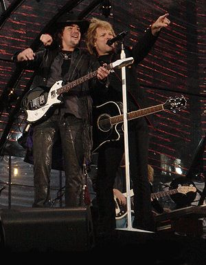 Jon Bon Jovi and Richie Sambora live in concer...