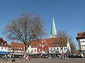 Borken, plein met kerk op achtergrond foto2 2012-03-28 16.01.JPG