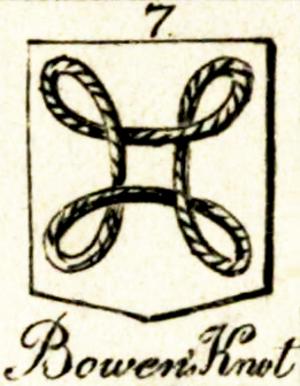 Bowen knot - Image: Bowen knot Hugh Clark Introduction to Heraldry 1827 vol 2 table 3 fig 7