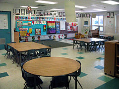 Boxwood PS kindergarten classroom