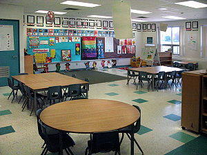 English: This is one of the kindergarten rooms...