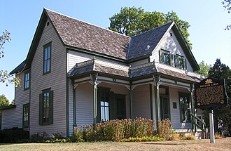 Sinclair Lewis - The writer's boyhood home at 812 Sinclair Lewis Avenue, Sauk Centre, Minnesota, is now a museum