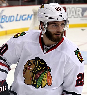 Brandon Saad - Saad with the Chicago Blackhawks on December 17, 2014