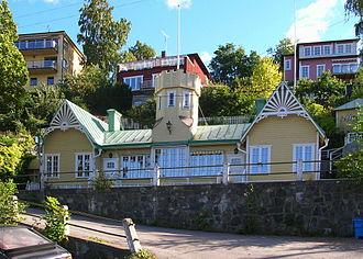 Mälarhöjden - Bredablick, well known 19th century building in the area, here in September 2005.