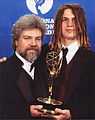 Brian Keane and son at Emmy Awards.jpg
