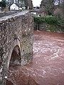Bridge over the flooding Usk - geograph.org.uk - 654502.jpg