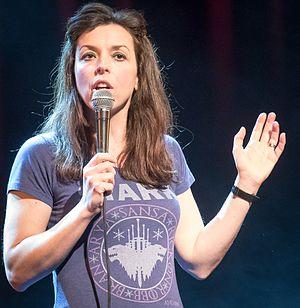 Bridget Christie - Bridget Christie onstage at Crap Comedy Festival, 2017.