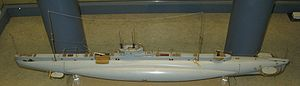 British E-class submarine - Model of an E-class submarine