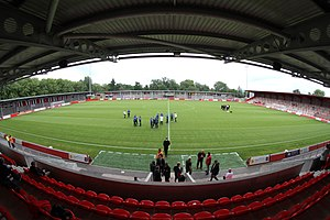 F.C. United of Manchester - The club's home ground, Broadhurst Park, opened in May 2015.