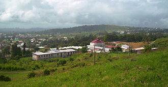 Buea - Buea from the foot of Mount Cameroon