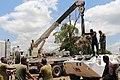 Bunia, province de l'Ituri, RD Congo les mécaniciens du bataillon bangladais de la MONUSCO apportent leur soutien aux activités opérationnelles en fournissant des services de réparation des véhicules blindés de transport de troupes.jpg