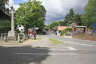 Burley, village centre