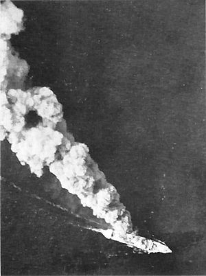Burning Japanese Ship (Battle Of The Bismarck Sea).jpg