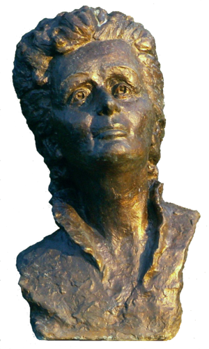 English: Bust of Edith Piaf in Celebrity Alley...