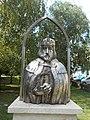 Bust of Stephen I of Hungary by János Béres, 2017 Várpalota.jpg