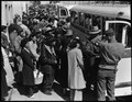 Byron, California. Farm families of Japanese ancestry boarding buses for Turlock Assembly center 65 . . . - NARA - 537458.tif